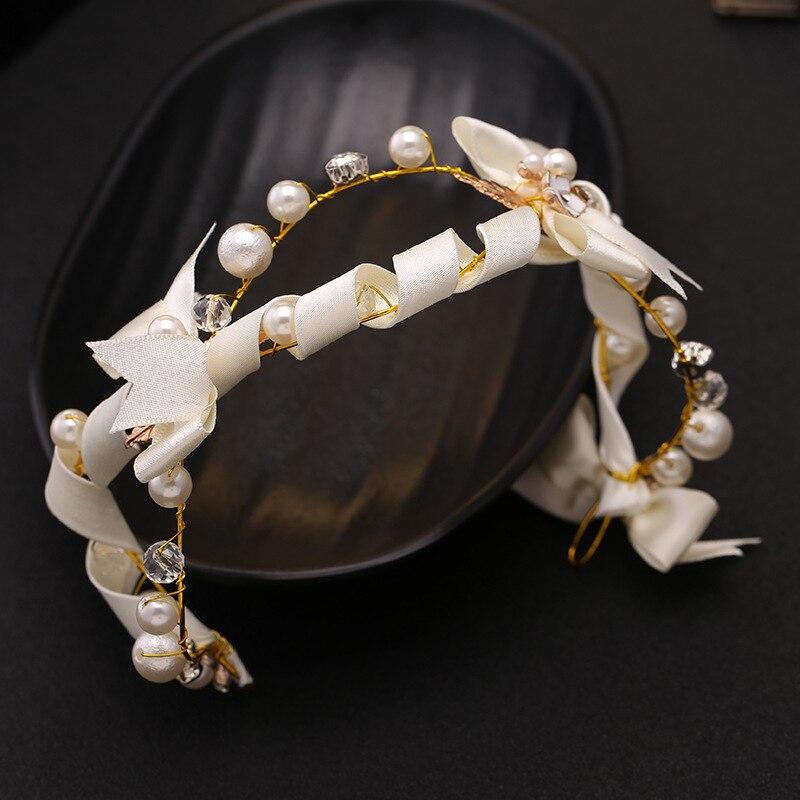 Blatt Braut Stirnbander Hochzeit Perlenband Blume Braut Haarband