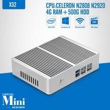 Celeron N2808 N2920 DDR3 4G RAM 500G HDD+WIFI,Desktop Computer Fanless Motherboard,Mini PC ,Tablet,2*HDMI+6*USB Windows 7/8/10