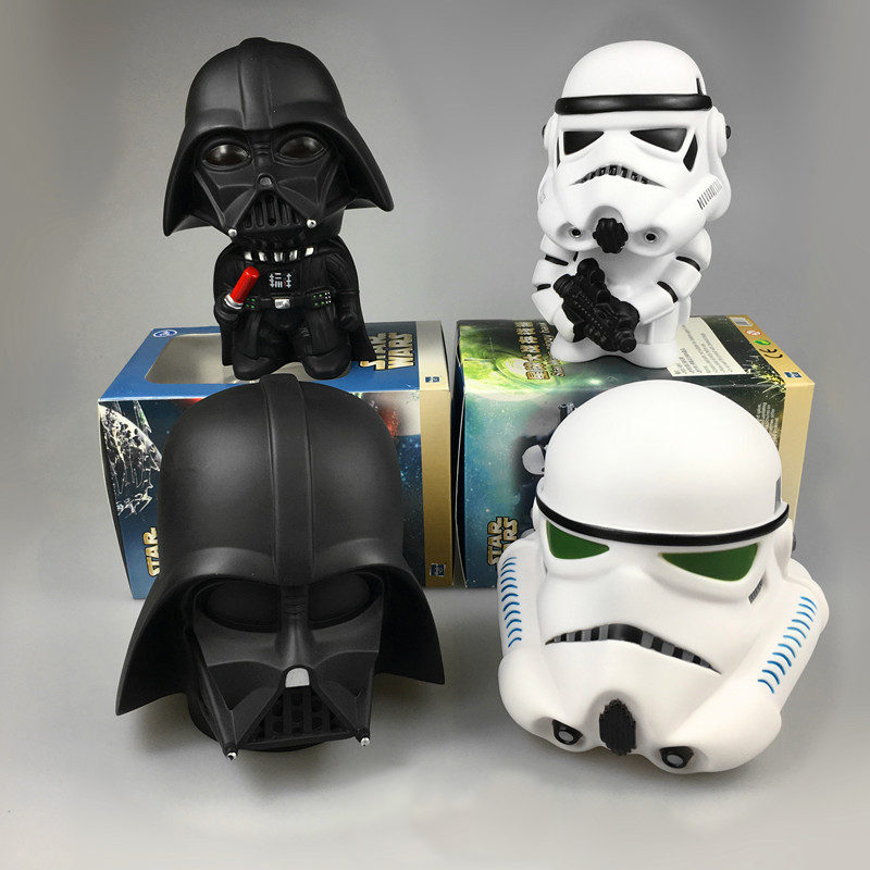 Cute Star Wars Darth Vader Stormtrooper Model Coin Bank Piggy Bank Money Saving Box Money box Figure Toy  Free Shipping