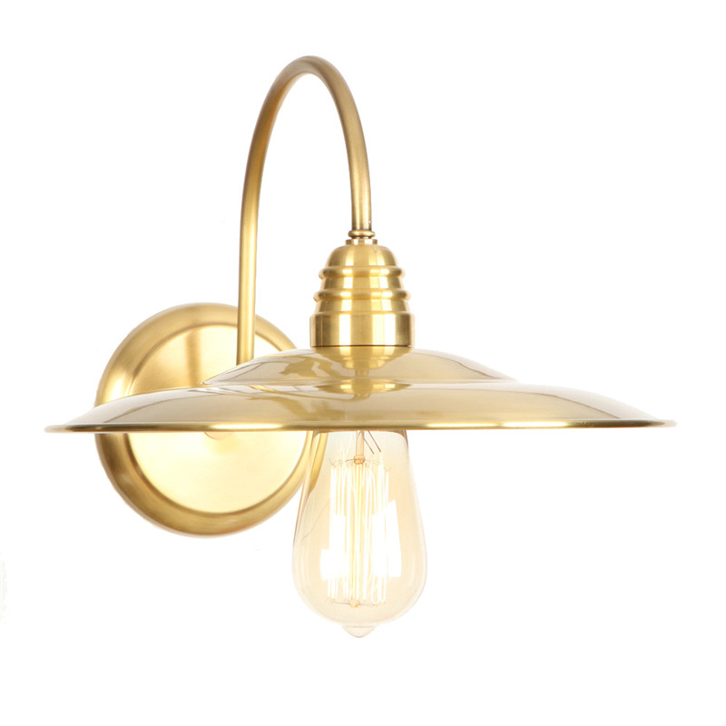 купить American Loft Copper Wall Sconce Edison Industrial Vintage LED Wall Lamp Bedroom Bedside Wall Light Home Lighting Lampara Pared по цене 5602.31 рублей