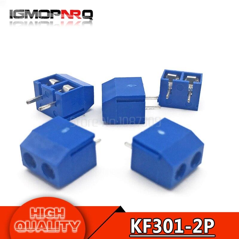 20 шт. KF301-2P 5,08 мм KF301 2 Pin Синий соединение Терминал Винтовые клеммы разъем соединительного разъема