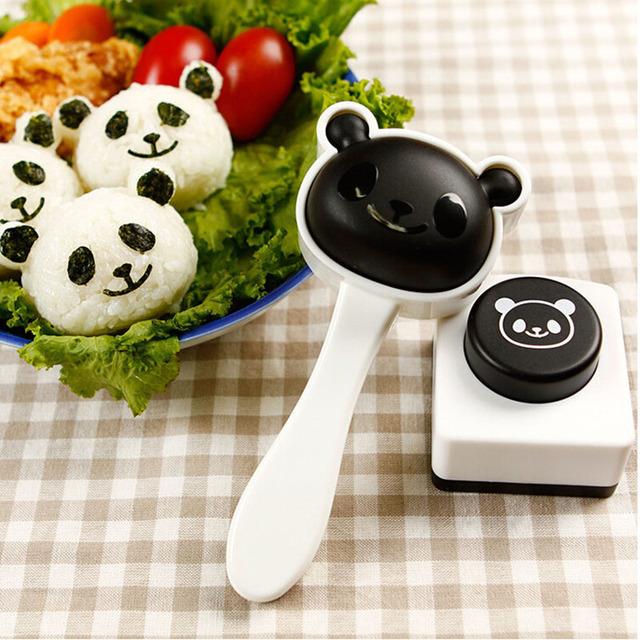 Cute Panda Shape Rice Sushi Mold Suit Creative Onigiri Maker Mould Seaweed Cutter DIY Kitchen Cooking Tools