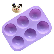 TTLIFE 6 Holes Silicone Baking Mold 3D Half Ball Sphere Chocolate Cupcake Fondant Cake Moulds DIY Muffin Bakeware Kitchen Tools