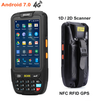 7 android 4 DHL Free Shipping 4 inch Touch Screen IP65 Waterproof Industrial PDA Handheld Terminal 1D 2D Laser Barcode Scanner Android 7.0 (2)
