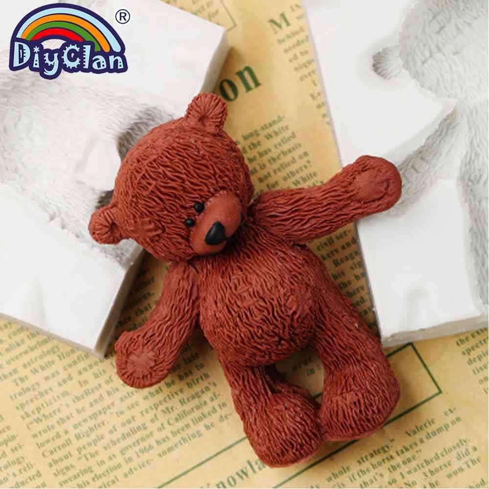 Peachy Big Size Doll Bear Silicone Mold Teddy Bear Toy Cake Decoration Funny Birthday Cards Online Aeocydamsfinfo