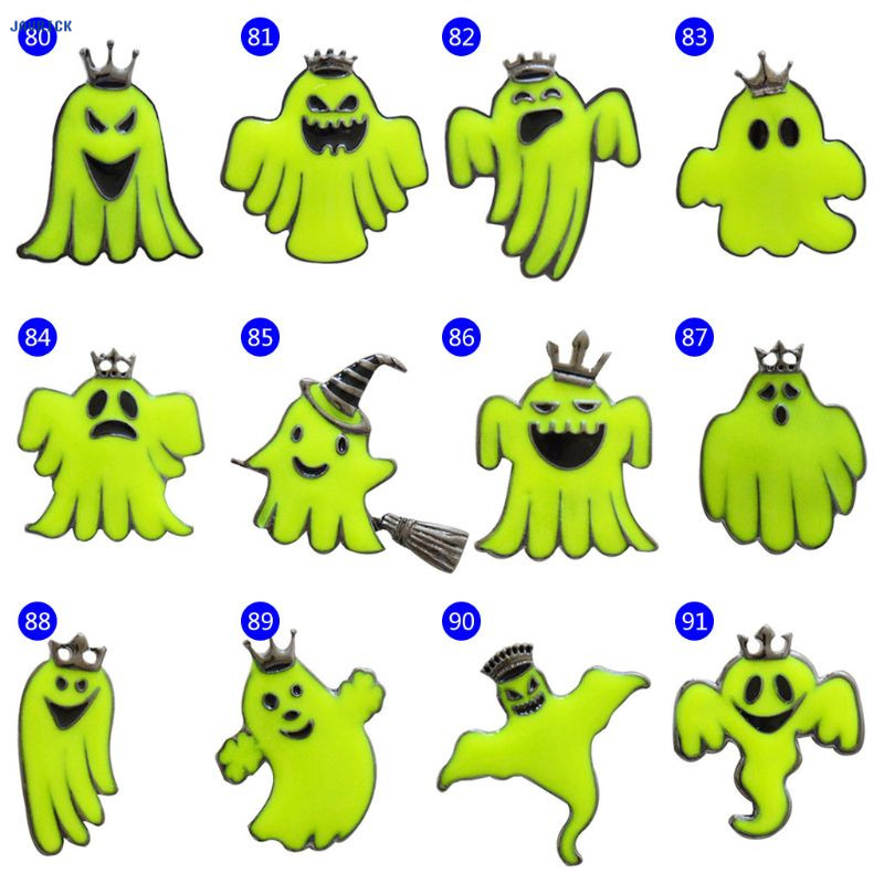 Unisex Halloween Brooch Fluorescent Ghost Pin Badge Clothes Decoration Banquet New Year Exquisite Brooches Christmas Gifts