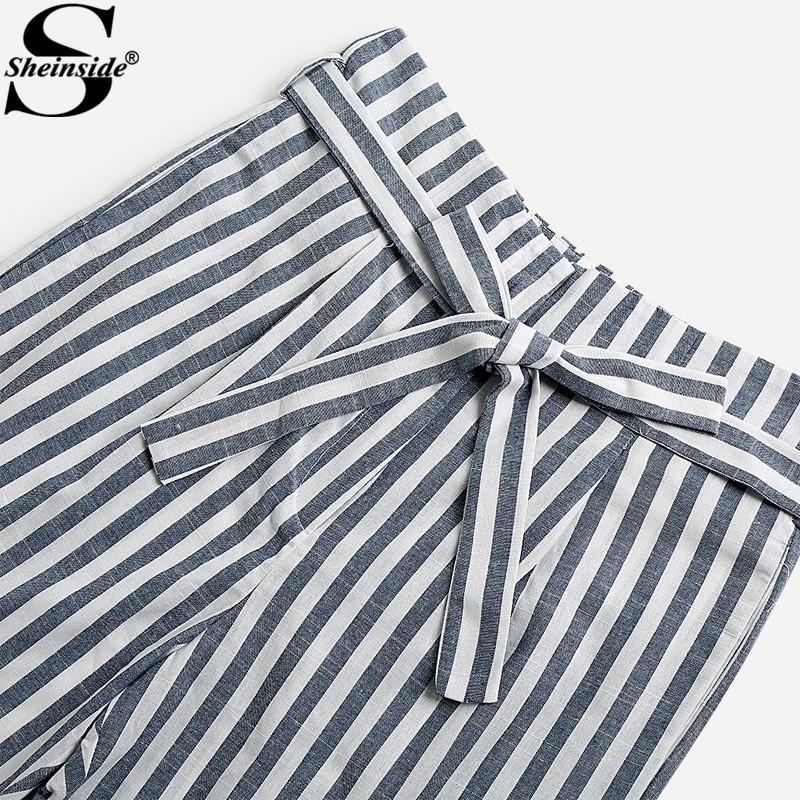 HTB1wkMBalUSMeJjSszcq6znwVXax - Striped Pants With Bow PTC 208