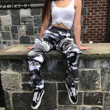 ZOGAA Women Camo Cargo Hip Hop Pants Trousers 2019 New Girls High Waist Military Army Combat Camouflage Hot Capris Long Pants zogaa women camo cargo hip hop pants trousers 2019 new girls high waist military army combat camouflage hot capris long pants