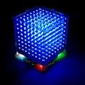 Marca new 3D 8 S 8x8x8 mini led eletrônico luz cubeeds kit diy para o Presente de Natal