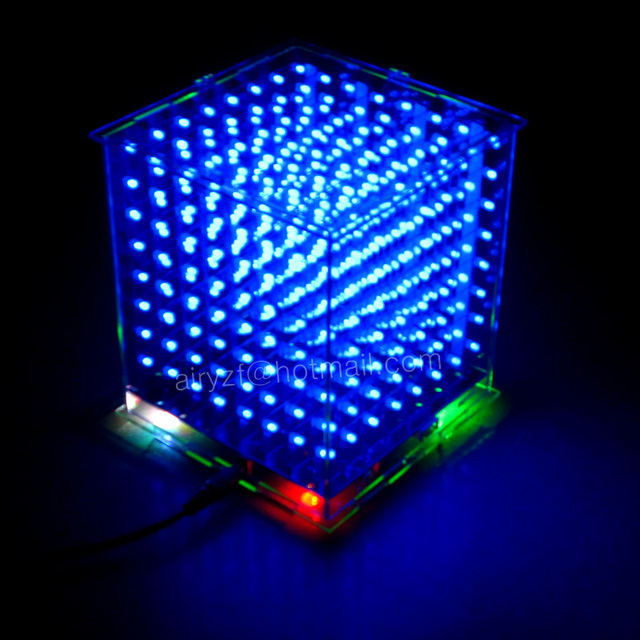 brand new 3D 8S 8x8x8 mini led electronic light cubeeds diy kit for Christmas Gift