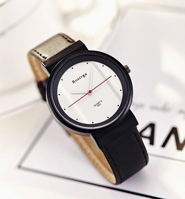 efc9d610e11 Moda Simple de alta calidad grande del cuarzo del Dial del reloj del  deporte del cuero