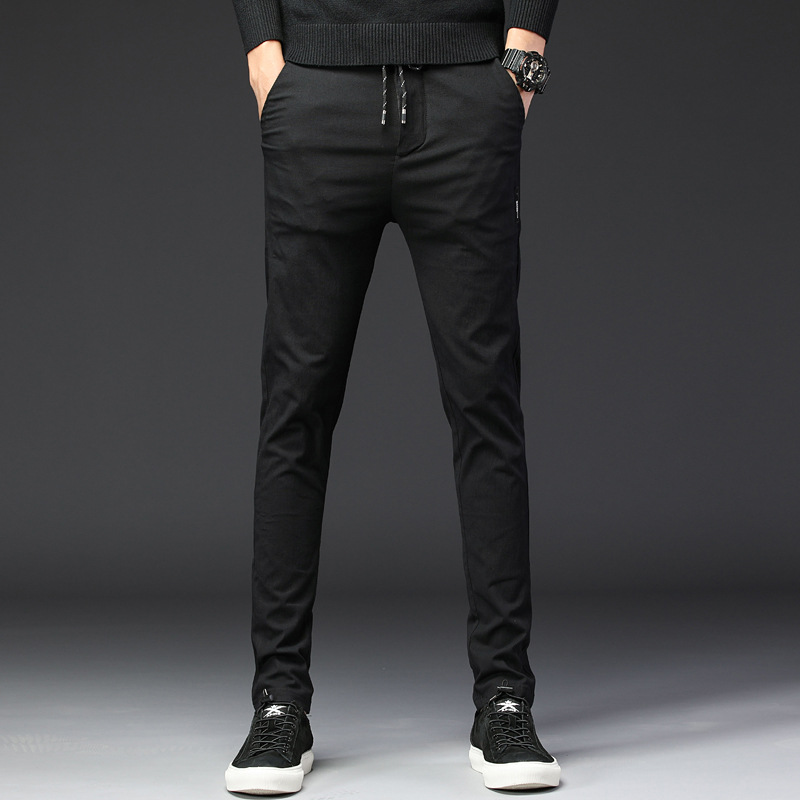 2018 Herbst Frühjahr Neue Casual Hosen Männer Slim Fit Chinos Mode Hosen Männlichen Marke Kleidung Plus Größe 38