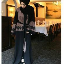 2017 новый Взрослых Случайный кружева хлопок Халат Мусульманского Турецких Печатных Абая Мусульманский Платье Кардиган Халаты Арабские Богослужения Wj459