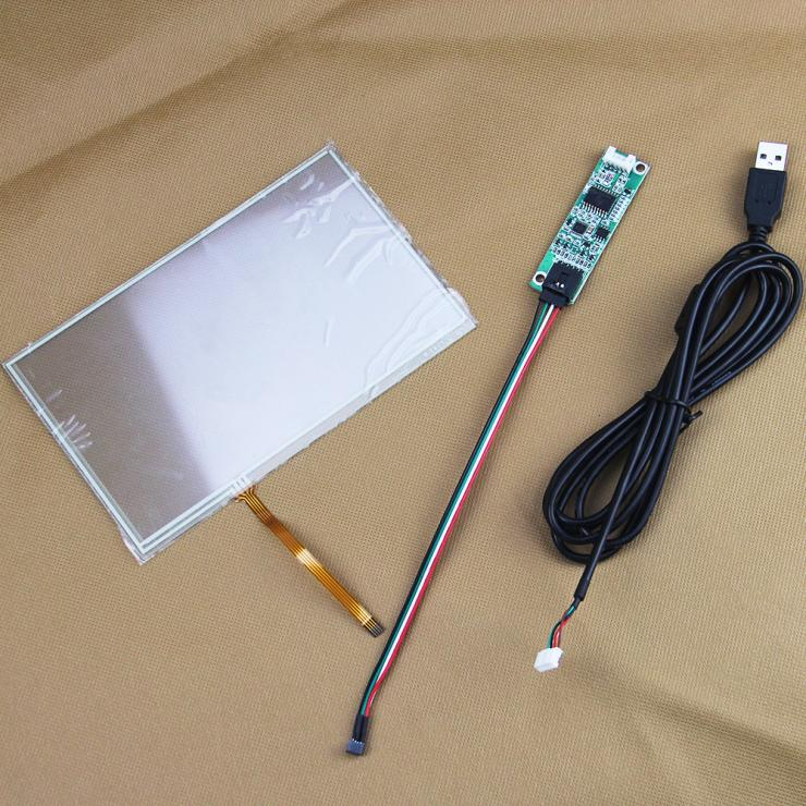 6.8 inch 7 inch 165*104mm 157*95mm 4 wire Resistive Touch Screen Panel Digitizer+USB Controller for AT070TN82 AT070TN84