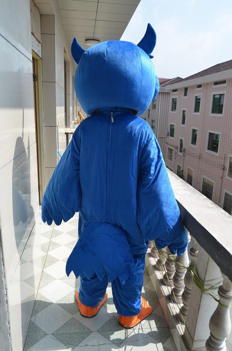 Haute qualité EVA matériel casque bleu hibou mascotte Costumes unisexe dessin animé vêtements Cosplay aigle mascotte costumes - 3