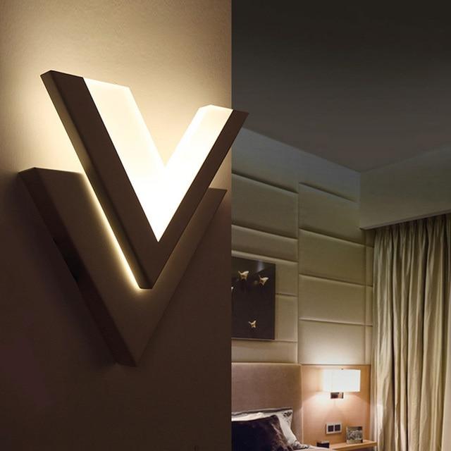 Ultra thin LED Wall Lamp Plexiglass Bedroom Living Room Decorative ...