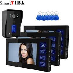 """SmartYIBA 3*7 """"TFT Цвет видео домофон дверной звонок Системы комплект ИК Камера монитор домофона громкой связи домофон"""