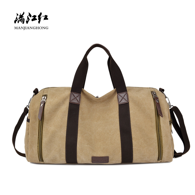 Vintage Canvas Men Travel Bag Large Capacity Casual Tote Travel Bags For Men Leisure Travel Duffle Bags Shoulder Messenger 1313