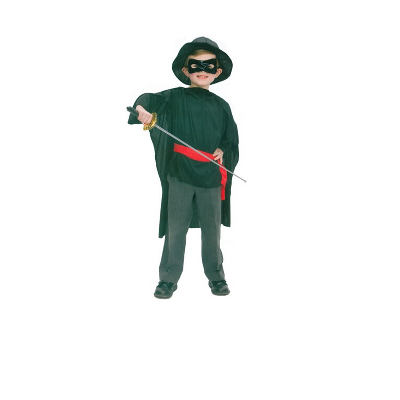 Halloween Party Cosplay Costumes Zorro Costume For Kids Cute Children Costumes Boy Fancy Dress