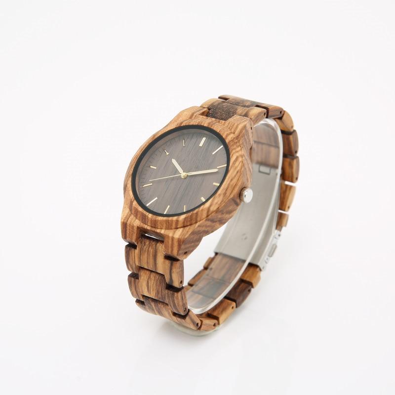 2018 Custom-made drewniany zegarek handmade dla mężczyzn specjalne - Męskie zegarki - Zdjęcie 2