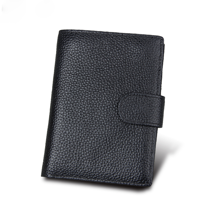 Genuine Leather Men Wallet and Cow Leather vintage style Protected RFID fashion black and brown color purse for best gift