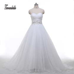 In stock 2017 sweetheart ruched bodice beading belt ball gown wedding dress white champagne bridal gowns.jpg 250x250