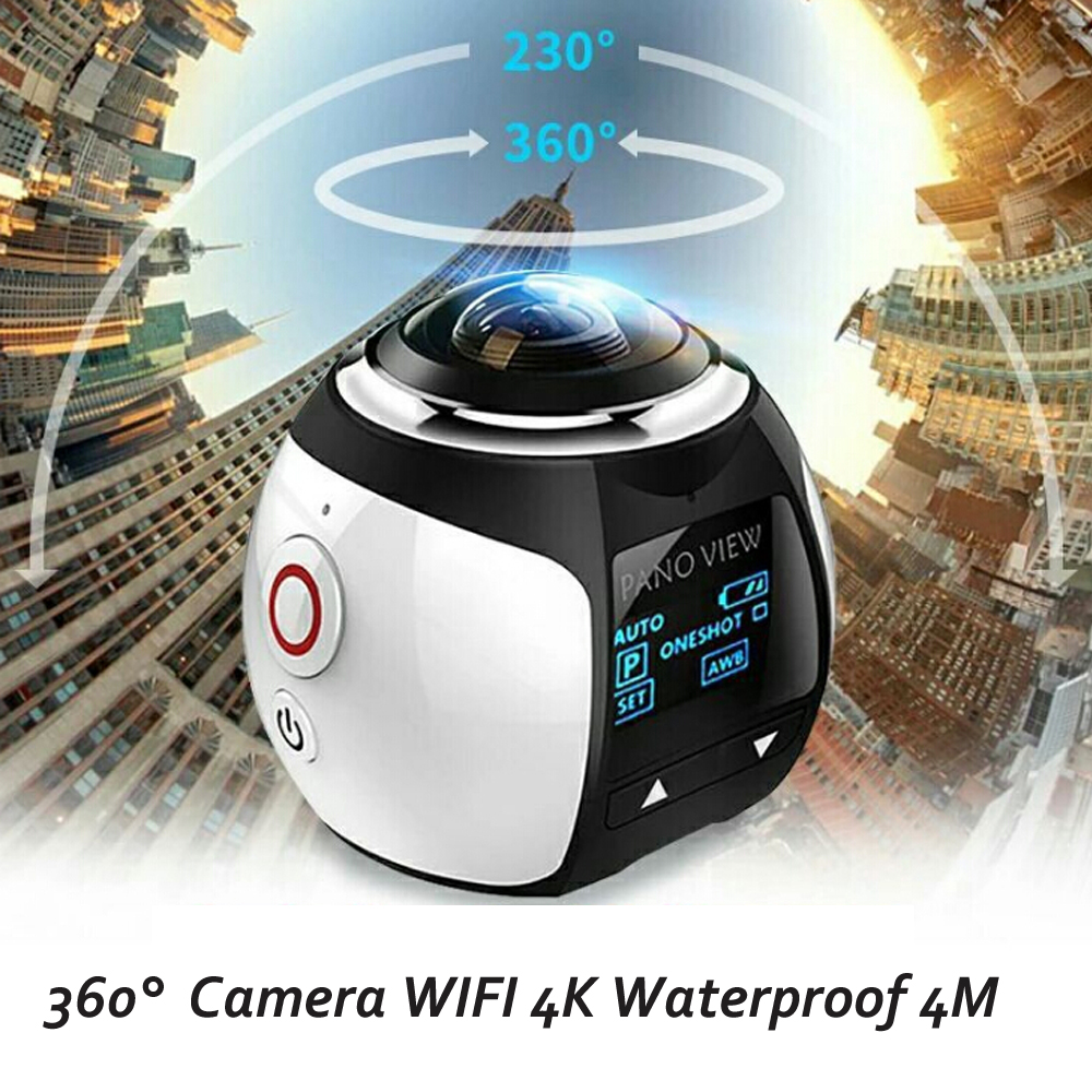 New V1 360 Camera 4k Wifi Mini Panoramic Camera 2448 2448 Ultra HD Panorama Camera 360