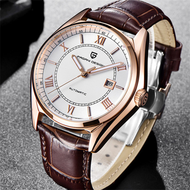 Automatic Mechanical Mens Watch 2018 Top Brand PAGANI DESIGN Luxury Watch Leather Waterproof Male Wrist Watch Relogio MasculinoAutomatic Mechanical Mens Watch 2018 Top Brand PAGANI DESIGN Luxury Watch Leather Waterproof Male Wrist Watch Relogio Masculino