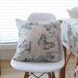 Image 5 - Landschaft Brief Schmetterling Drucken Tischdecke Spitze Solide Rechteckige Esstisch Abdeckung Obrus Tafelkleed Küche Home Dekorative