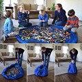 Hot! Saco De Armazenamento Portátil Toy Kids Play Mat Brinquedos Lego Sacos De Armazenamento Organizador Bin Box XL Moda Prático Livre grátis