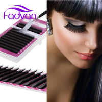 Fadvan Makeup Lashes Classic Individual False Eyelash Extensions for Professional Lashes Building Grafting