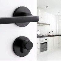 Black space aluminum door handle Interior / Bedroom door lock Split Silent door lock ,Door hardware