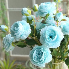 1 Pc Fake Silk Western Rose for Wedding Party Artificial Bridal Bouquet Style Home Decoration Simulation