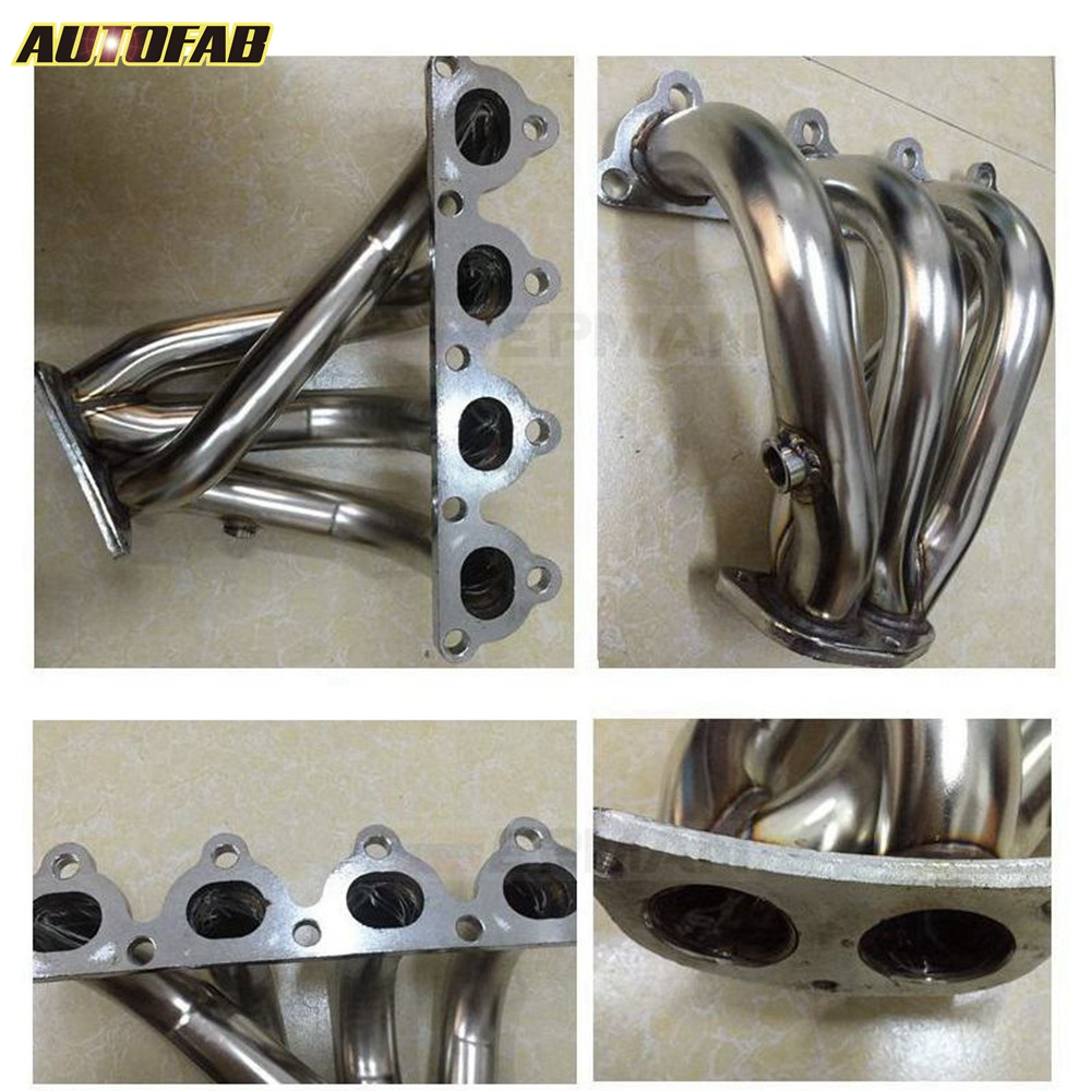 88-00 Stainless Exhaust Header For Honda Civic Crx Del Sol Sohc D16 D-Series New