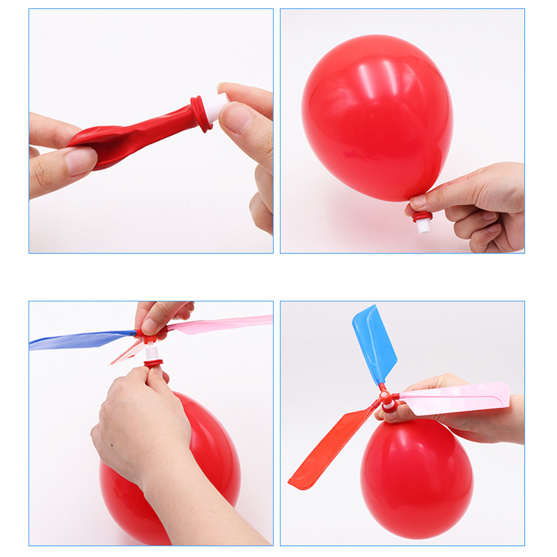 Balloon Helicopter Flying Toy Child Birthday Xmas Party Bag Stocking Filler Gift Toy Balls Outdoor Fun Sports For Kids Toy Gift