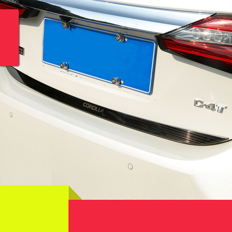 lsrtw2017 car styling car tail door trim for toyota corolla 2013 2014 2015 2016 2017 2018 E170