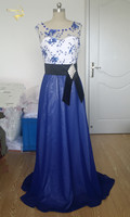 Hot Long Evening Dresses Jeanne Love HE021357 Sexy Fashion Blue Lace New Arrival Formal Evening Dresses