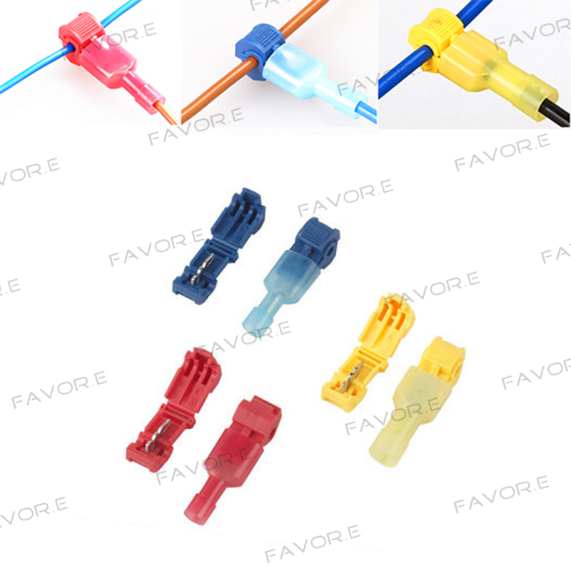 Wire Cable Spade Connectors Terminals Crimp Scotch Lock Quick Splice Electrical Car Audio 22-10AWG 0.5mm-6mm Kit Tool Set