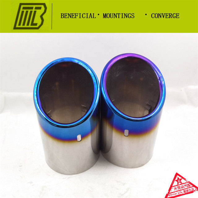 Car-styling Resistance Muffler Modified  Tip/Exhaust Pipe For Chevrolet MALIBU Tail Pipe Inlet 98mm. With Many Logos To Select