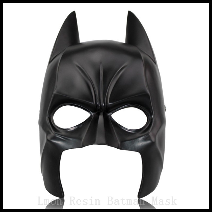 Top Grade Batman Resin Mask Black MoivesTheme Superhero Masks for Dark Night Masque Costume Cosplay Hot Selling Free Shipping