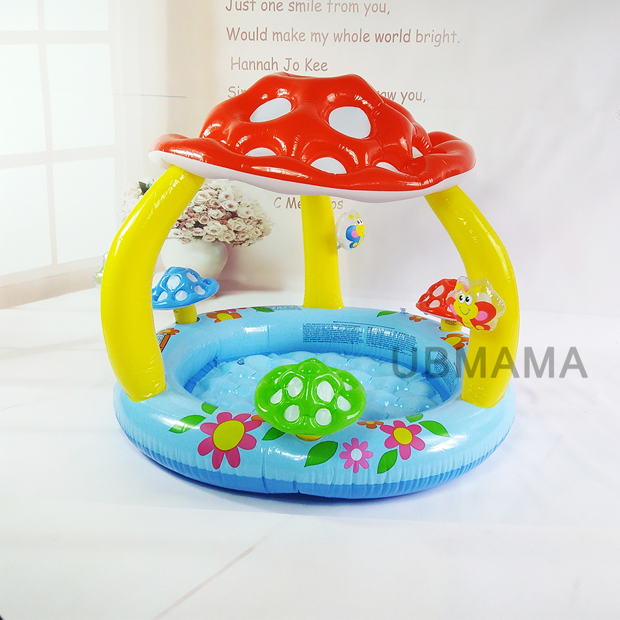 Children at the bottom of an inflatable swimming pool with baby mushroom awning pool sea pool basin the springboard in the pond – an intimate history of the swimming pool