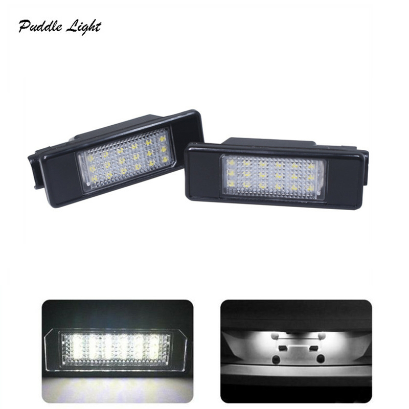 Car Accessories 2x6000k Car LED License Plate Light For Berlingo Estate Van C2 C3 C4 C5 C6 C7 C8 in Signal Lamp from Automobiles Motorcycles