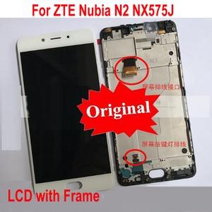 "Image 1 - Best Original Working LCD Display Touch Screen Digitizer Assembly Sensor + Frame For 5.5"" ZTE Nubia N2 NX575J MT6750 / M2 NX551J"