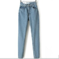 GT 521162 Europe And The New Dongyu Zhou With Retro Waisted Jean Haren Pants Jeans 8529