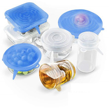 Universal Silicone Fresh Cover Creative Bowl Set Leakproof Sealing Refrigerator Microwave 6 Piece