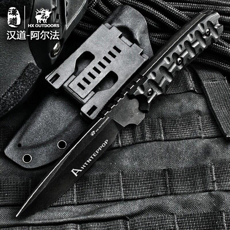 HX OUTDOORS kemping kés D2 penge saber taktikai rögzített kés - Kézi szerszámok - Fénykép 2