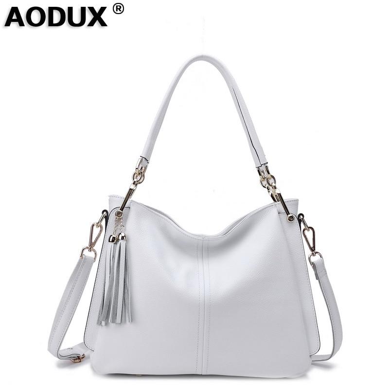 2018 100 Soft Genuine Leather Designer Women s Tassels Shoulder Bag Handbag Cross Body Messenger Bags