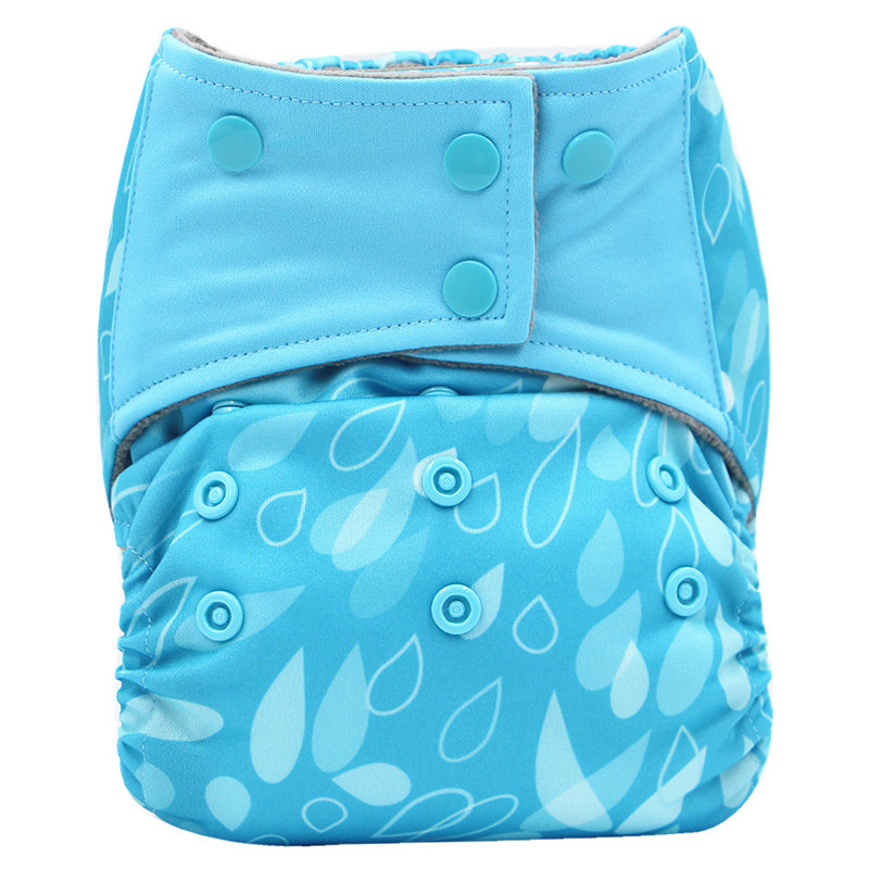 Print PUL Baby Cloth Diaper All In One Reusable Baby Diapers Nappies With Diaper Insert Sewn Splice Tab Baby Pocket Diapers