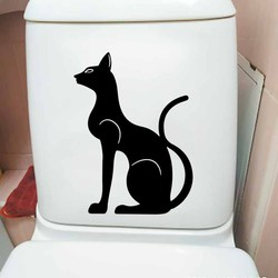 YOJA 17.8X24CM Egyptian Cat Ancient Egypt Magic Animal Toilet Stickers Mural Wall Decal T5-0145