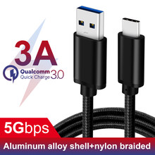 60W QC 3.0 Speed 5G C Type USB Cable 2m 3A PD for Nitendo Switch USB3.1 Gen1 Type-C Cable fast charge for Samsung Huawei Xiaomi(China)